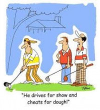 Cheating – if a golfer cheats in the forest …